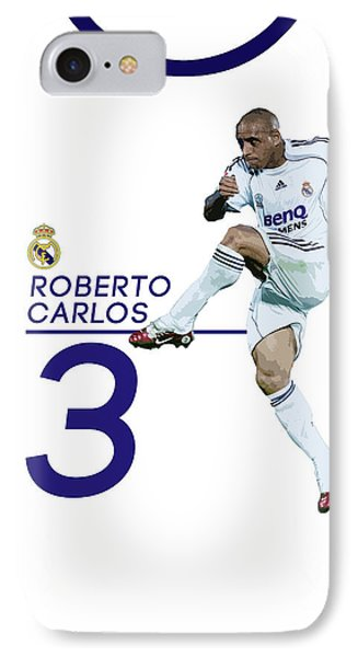 Roberto Carlos IPhone 7 Case by Semih Yurdabak