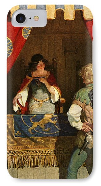 Robin Hood Meets Maid Marian IPhone Case by Newell Convers Wyeth