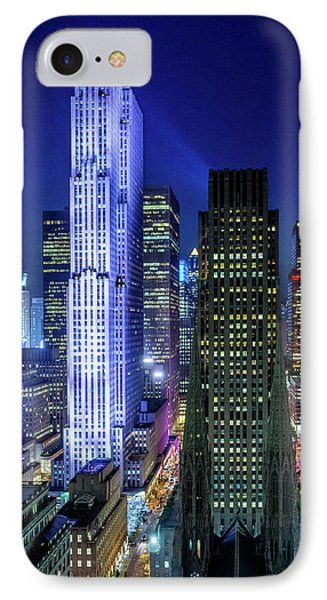 IPhone Case featuring the photograph Rockefeller At Night by M G Whittingham