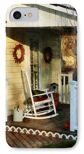 Rocking Chair On Side Porch Phone Case by Susan Savad
