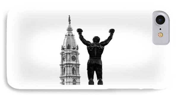 Rocky - Philly's Champ IPhone Case by Bill Cannon