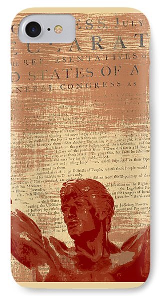 Rocky Statue Declaration Of Independence IPhone Case by Brandi Fitzgerald