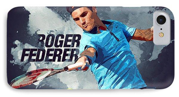 Roger Federer IPhone 7 Case by Semih Yurdabak