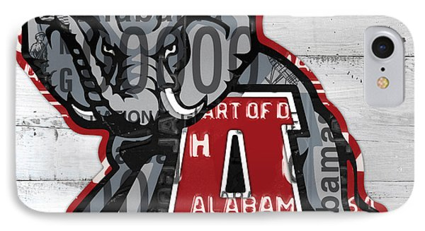 Roll Tide Alabama Crimson Tide Recycled State License Plate Art IPhone Case by Design Turnpike