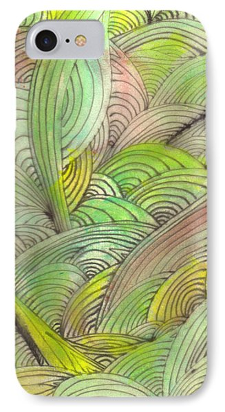 Rolling Patterns In Greens Phone Case by Wayne Potrafka