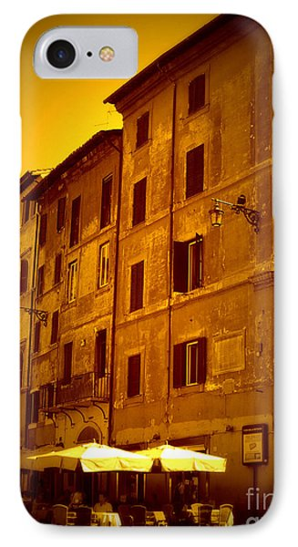 Roman Cafe With Golden Sepia 2 Phone Case by Carol Groenen