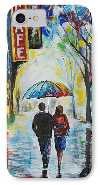 Romantic Night Out Phone Case by Leslie Allen