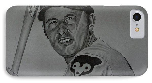 Ron Santo Portrait IPhone Case by Melissa Goodrich
