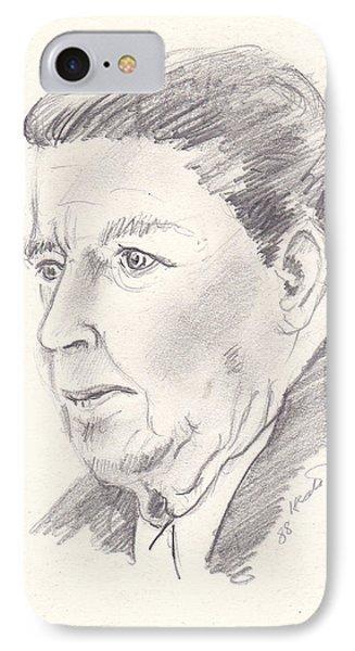 Ronald Reagan Phone Case by John Keaton
