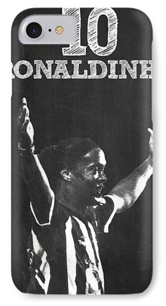 Ronaldinho IPhone Case by Semih Yurdabak