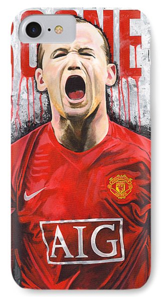 Rooney IPhone 7 Case by Jeff Gomez