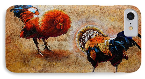 Roosters  Scene IPhone Case by Jose Espinoza