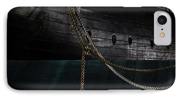 Ropes On The Uss Constellation Navy Ship IPhone Case by Marianna Mills