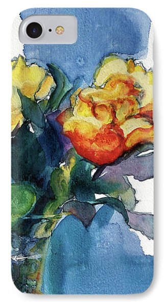 Roses In Vase Still Life I IPhone Case by Kathy Braud
