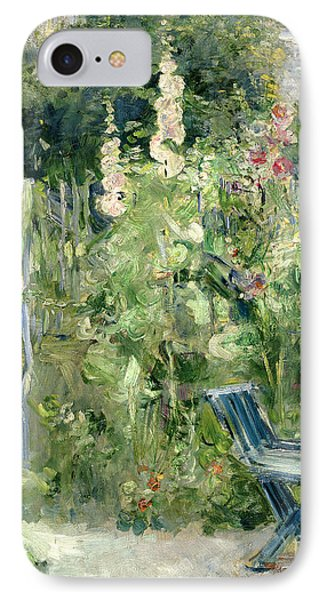 roses tremieres painting by berthe morisot. Black Bedroom Furniture Sets. Home Design Ideas