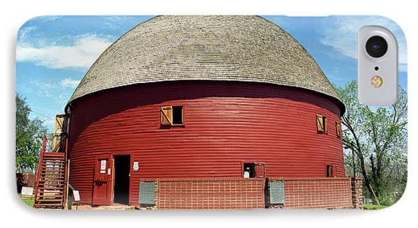 Route 66 - Round Barn Phone Case by Frank Romeo