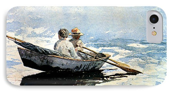 Rowing The Boat IPhone Case by Winslow Homer
