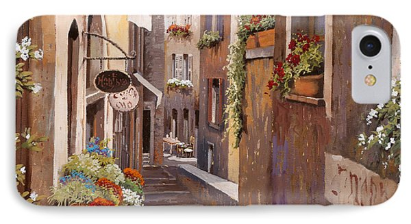Rue Du Bresc In St Paul De Vence IPhone Case by Guido Borelli