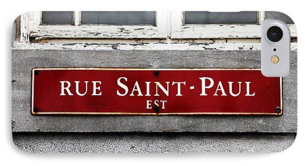 Rue Saint-paul IPhone Case by John Rizzuto