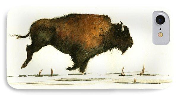 Running Buffalo IPhone 7 Case by Juan  Bosco