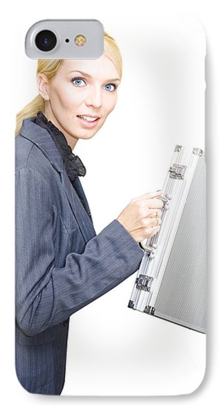 Running Business Woman IPhone Case by Jorgo Photography - Wall Art Gallery