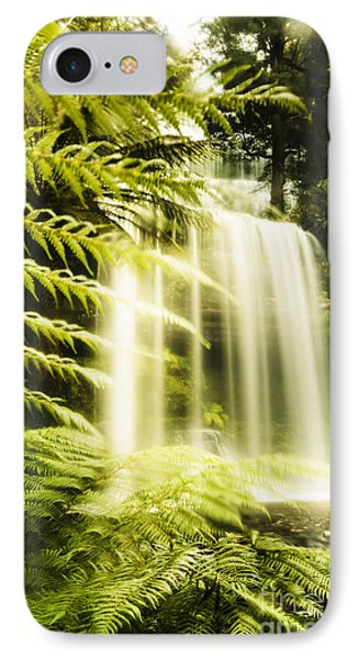 Russell Falls Background IPhone Case by Jorgo Photography - Wall Art Gallery