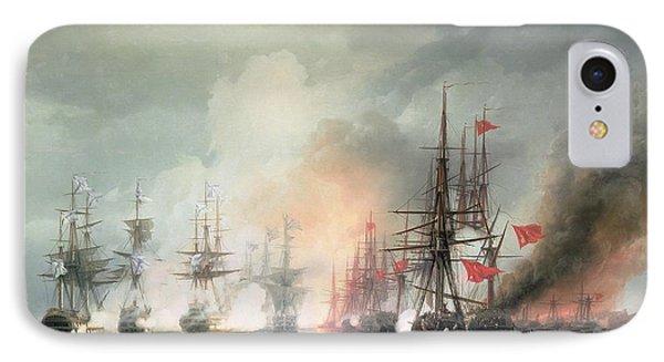 Russian Turkish Sea Battle Of Sinop IPhone Case by Ivan Konstantinovich Aivazovsky