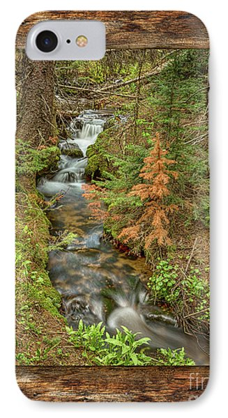 Rustic Cabin Window Forest Creek View  IPhone Case by James BO Insogna