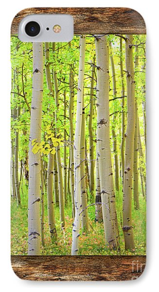 Rustic Cabin Window Into The Woods Portrait View  IPhone Case by James BO Insogna