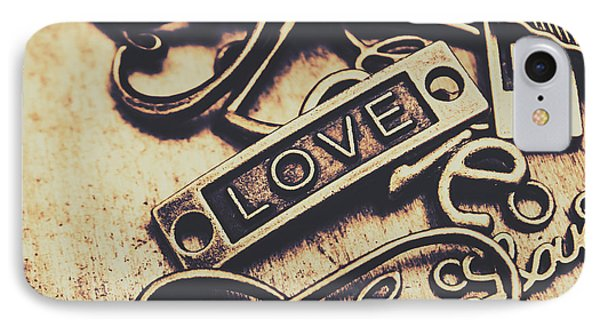 Rustic Love Icons IPhone 7 Case by Jorgo Photography - Wall Art Gallery