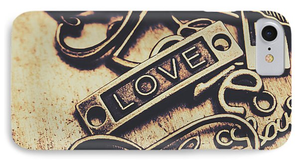 Rustic Love Icons IPhone Case by Jorgo Photography - Wall Art Gallery