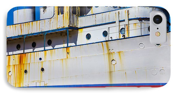 Rusting Cruise Liner IPhone Case by Garry Gay