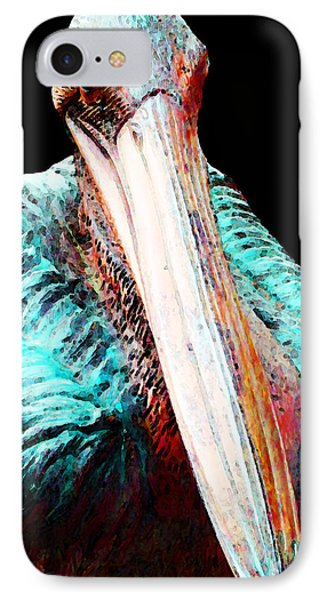 Rusty - Pelican Art Painting By Sharon Cummings IPhone 7 Case by Sharon Cummings