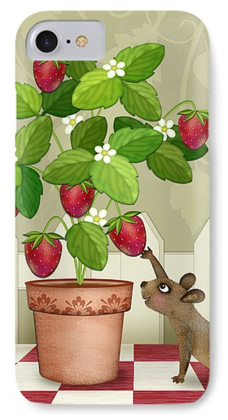S Is For Squirrel IPhone Case by Valerie Drake Lesiak