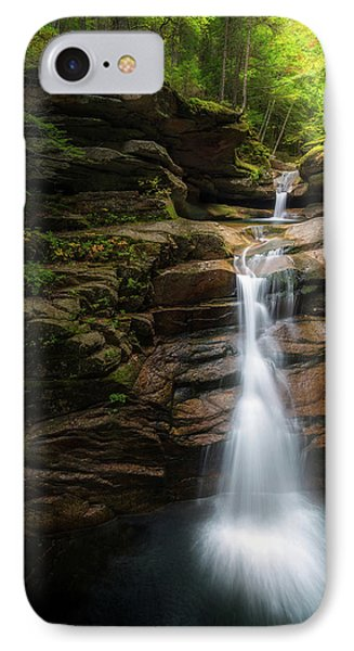 Sabbaday Falls Autumn IPhone Case by Bill Wakeley
