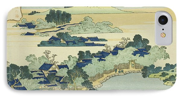 Sacred Fountain At Castle Peak IPhone Case by Hokusai