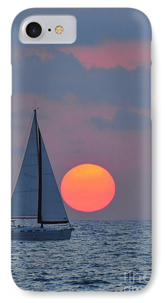 Sailboat At Sunset  Phone Case by Shay Levy