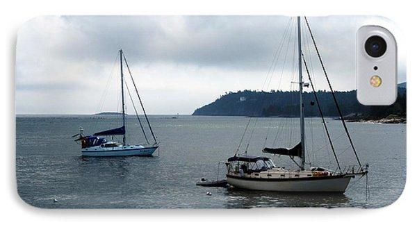 Sailboats In Bar Harbor Phone Case by Linda Sannuti