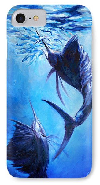 Sailfish And Ballyhoo IPhone Case by Tom Dauria