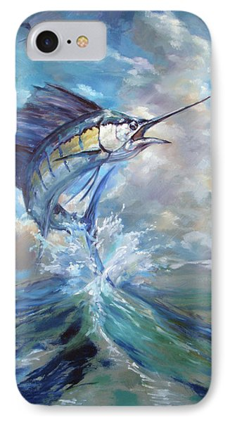 Sailfish And Frigate IPhone Case by Tom Dauria