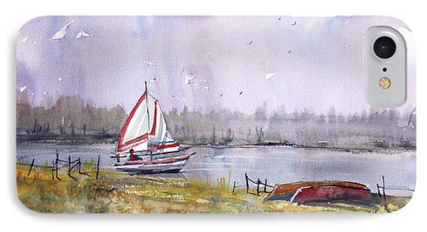 Sailing On White Sand Lake IPhone Case by Ryan Radke
