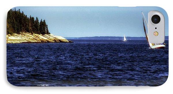 Sailing Penobscoy Bay IPhone Case by Thomas R Fletcher