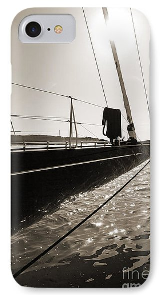 Sailing Yacht Hanuman J Boat Bow IPhone Case by Dustin K Ryan