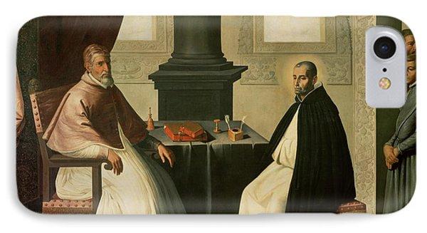 Saint Bruno And Pope Urban II IPhone Case by Francisco de Zurbaran