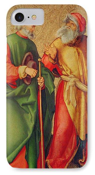 Saint Joseph And Saint Joachim IPhone Case by Albrecht Durer or Duerer