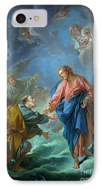 Saint Peter Invited To Walk On The Water Phone Case by Francois Boucher