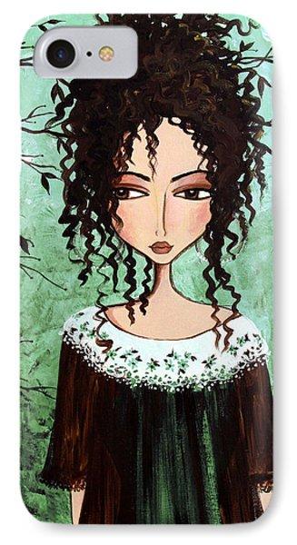 Samantha's Chocolate Tree IPhone Case by Debbie Horton