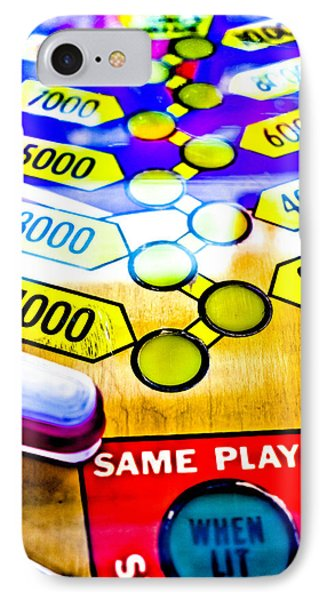 Same Player - Jet Spin Pinball Machine IPhone Case by Colleen Kammerer