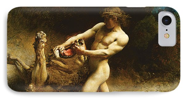 Samson's Youth IPhone 7 Case by Leon Joseph Florentin Bonnat