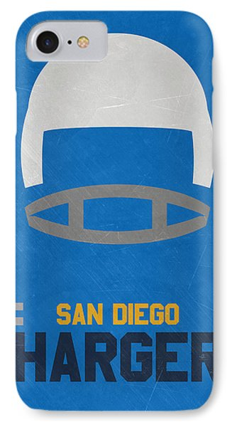 San Diego Chargers Vintage Art IPhone 7 Case by Joe Hamilton